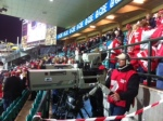 Camera position below my seat in the SCG's O'Reilly Stand