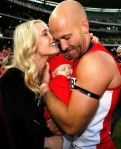 Clementine, Lolita-Luella & Jarrad McVeigh - 2012 AFL Grand Final