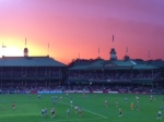 Red Sunset at the SCG